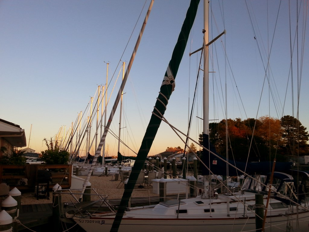 Sunset in the Masts
