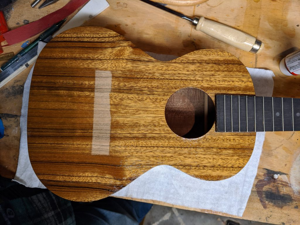Fig. 14: Finish Applied to Ukulele
