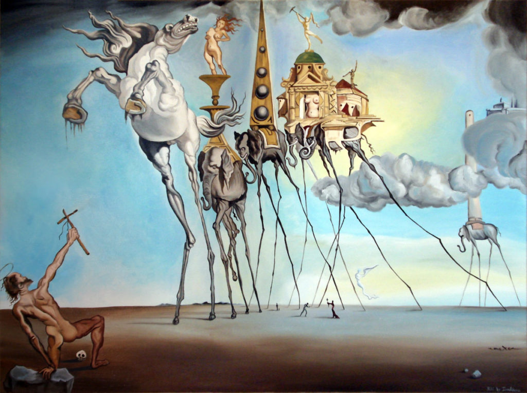 Salvador Dalí's The Temptation of St. Anthony