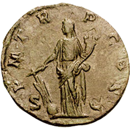 Roman Coin Depicting Fortuna Redux