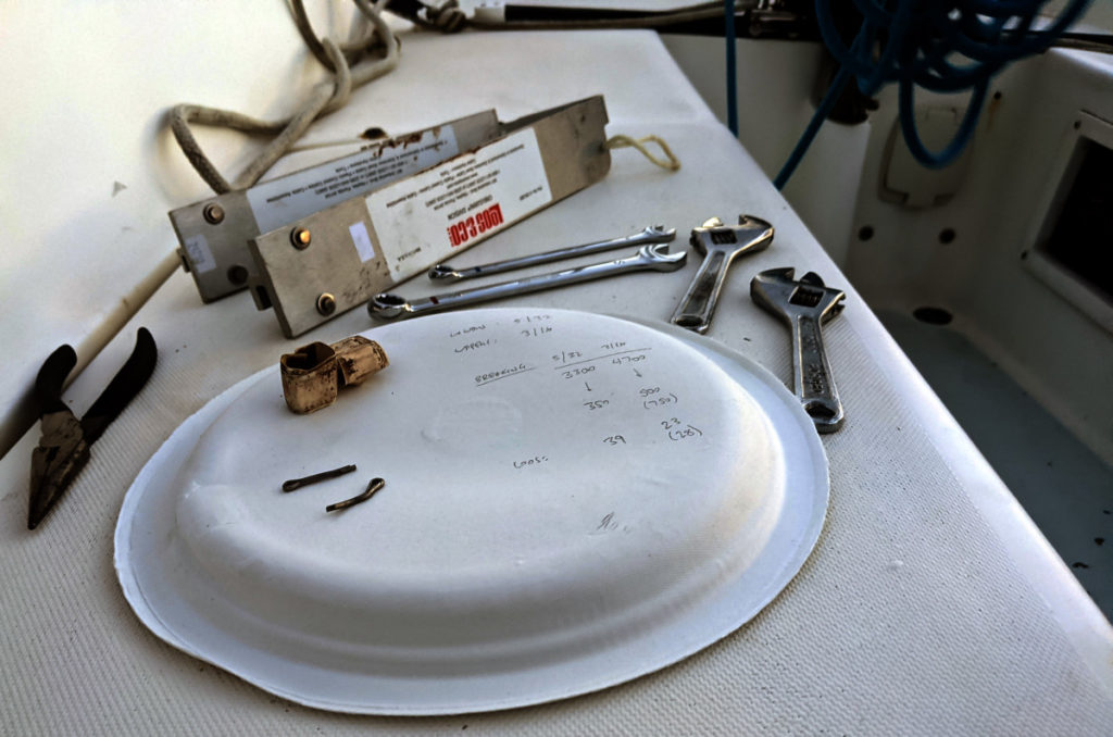 Rig Tuning Tools and Paper Plate with Math