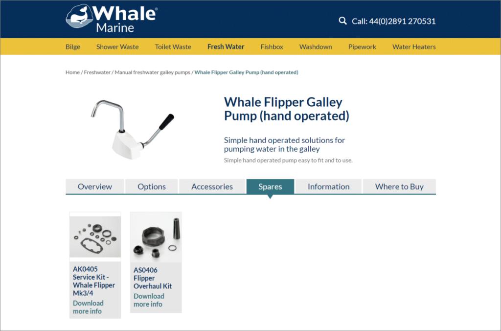 Screenshot of Whale's Website