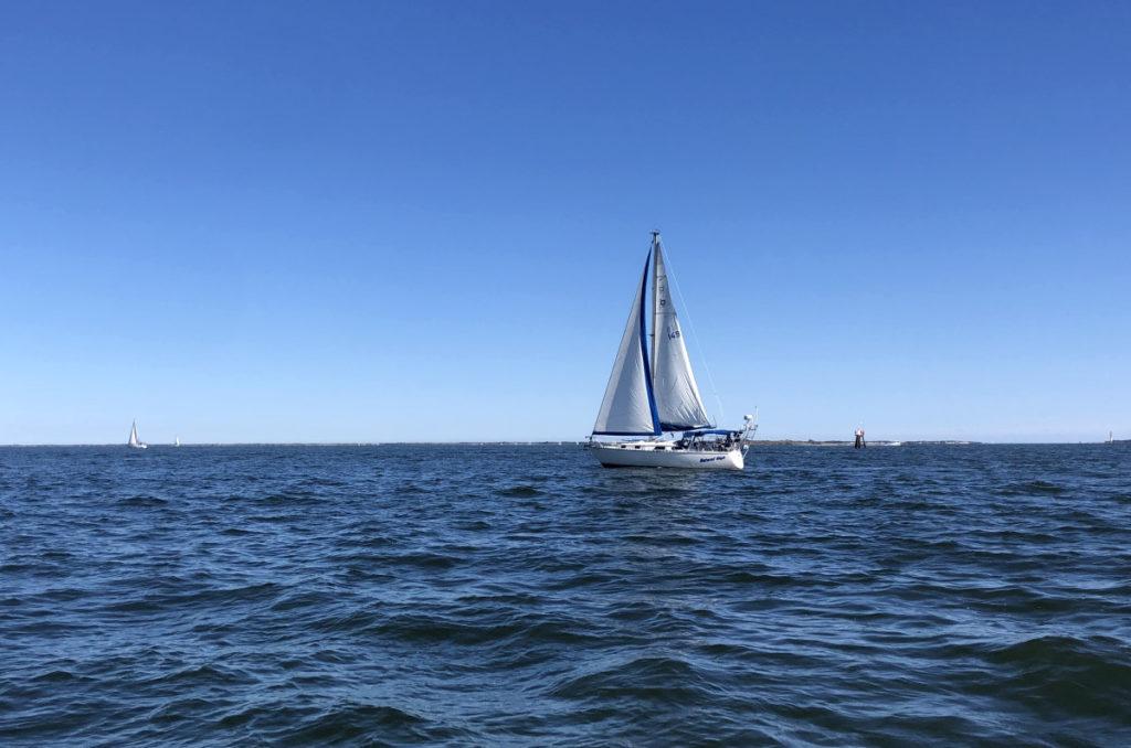 A Pearson 34 Sailboat