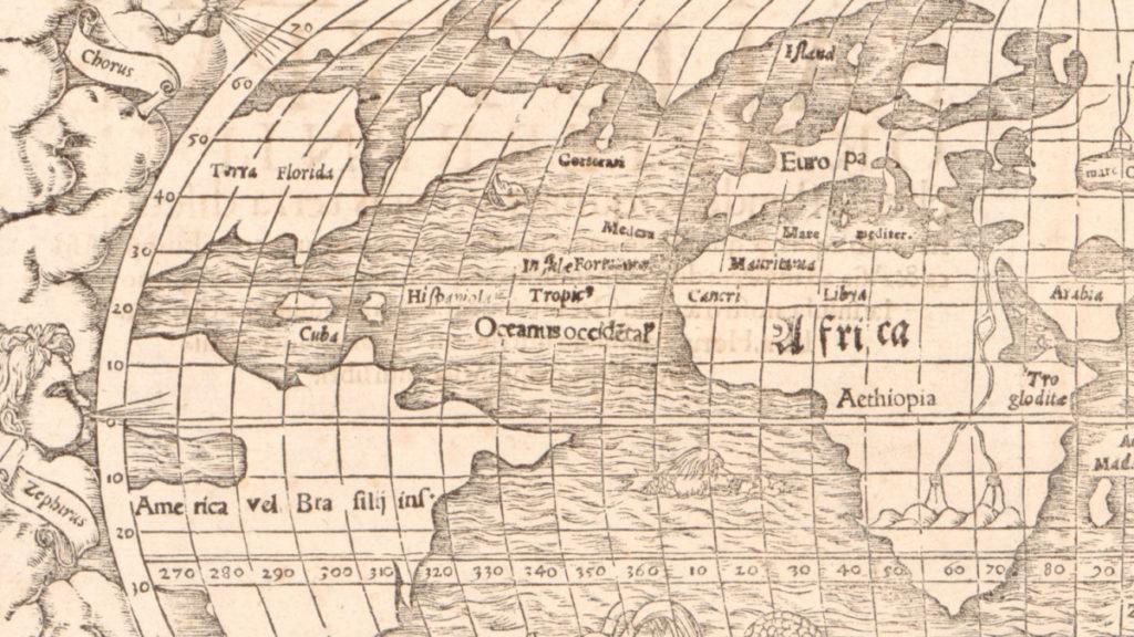Ye Olde Map of the World, Centered on the Atlantic Ocean