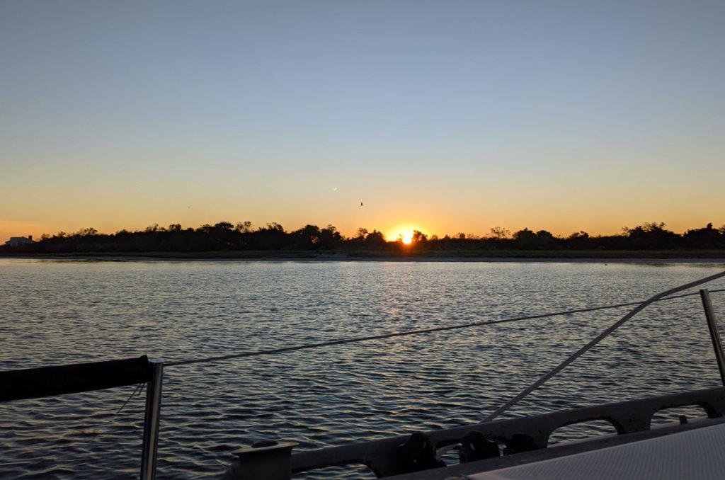 Sunset over Myers Hole