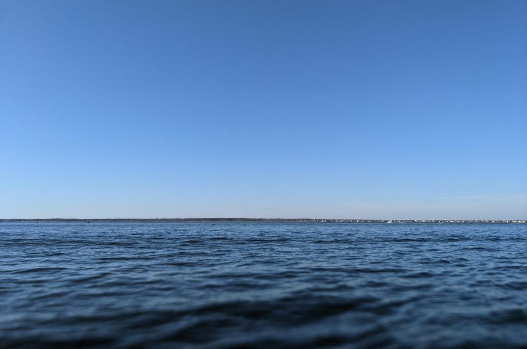 Horizon with Blurry Foreground