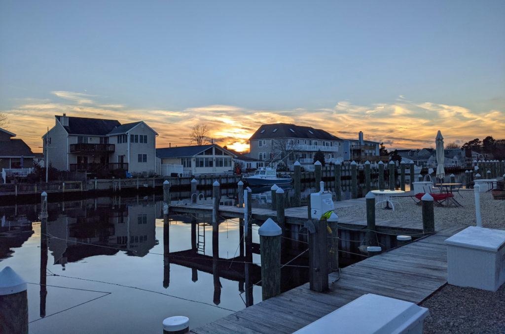 Sunset across the Lagoon