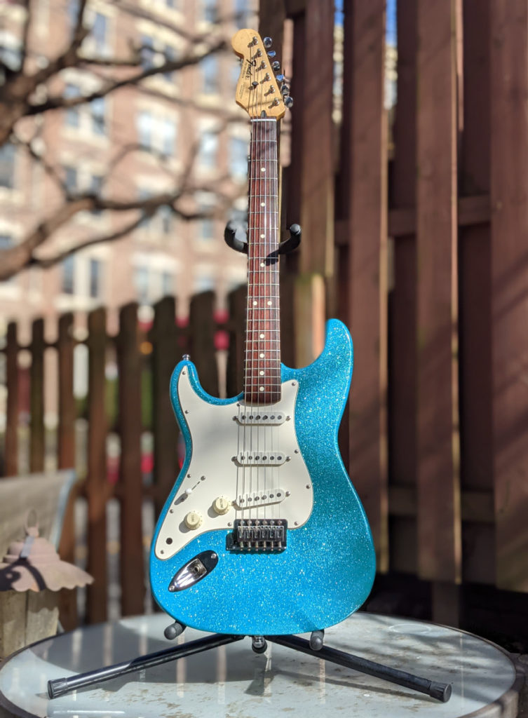 Blue Flake Guitar