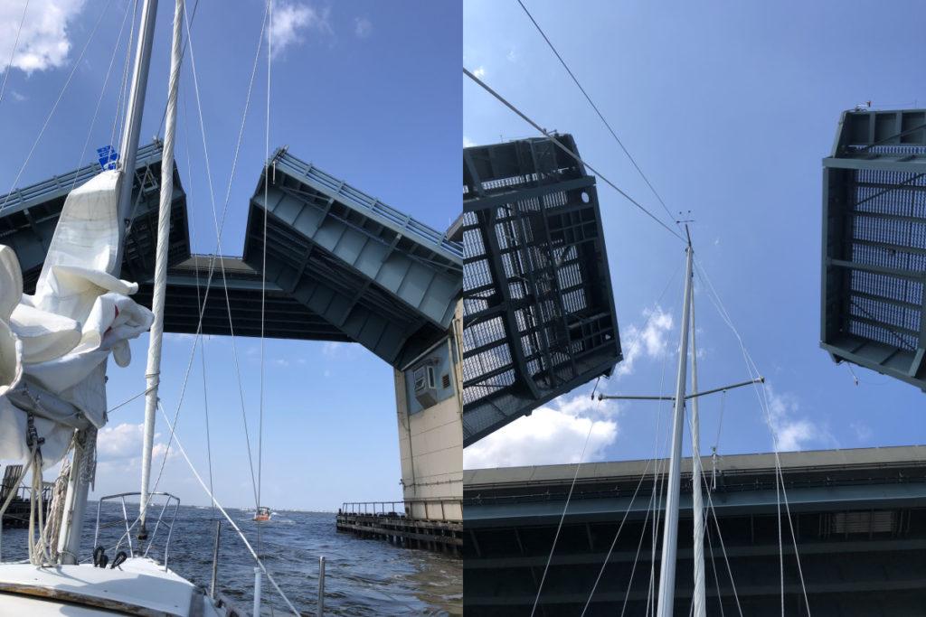 Going Under the Open Drawbridge
