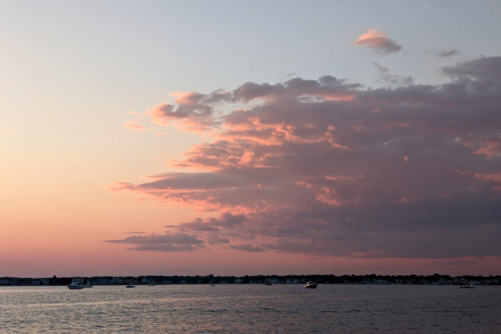 Pink Clouds Over Silver Bay