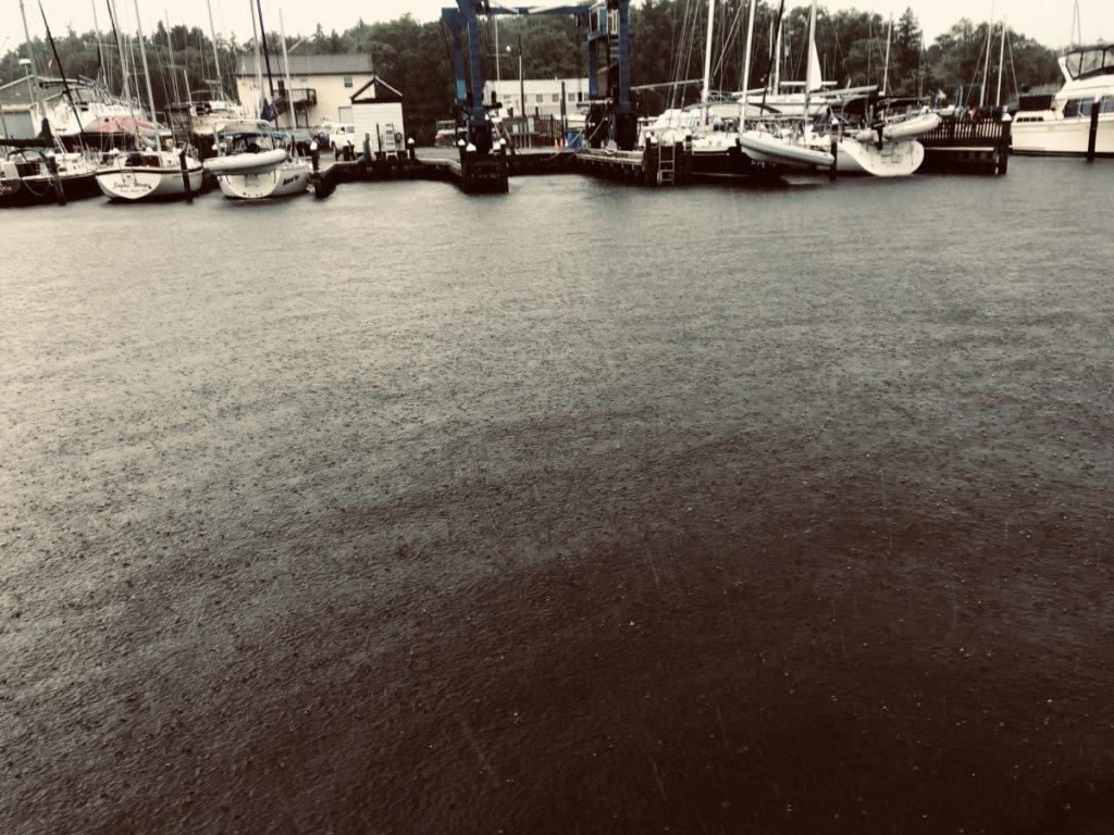 Rain in the Marina