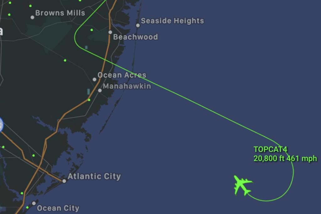 Screenshot of KC-135 Path