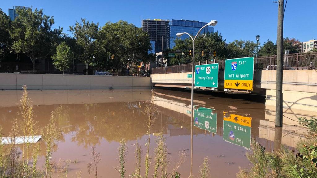 Vine Street Expressway Under Water