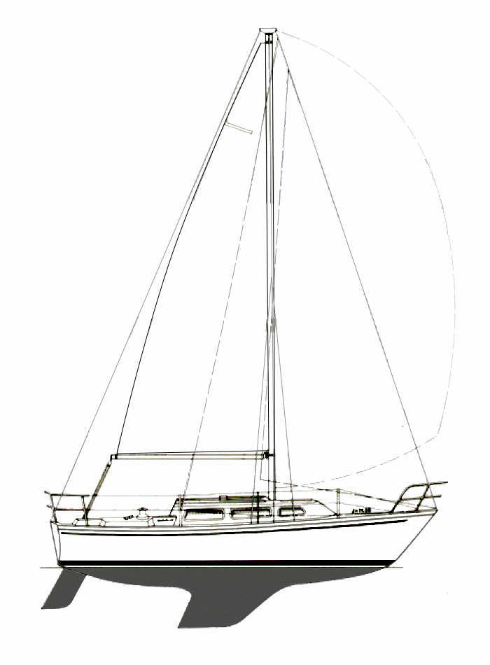 Catalina 27 Line Drawing